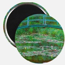 The Japanese Footbridge by Claude Monet Magnets