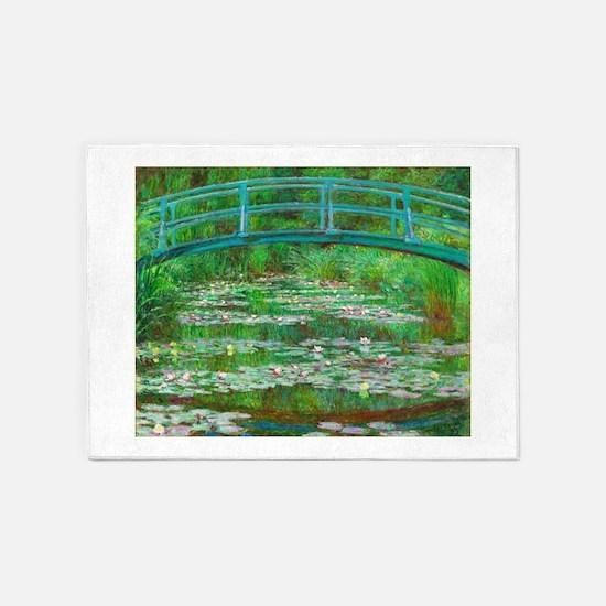 The Japanese Footbridge by Claude Monet 5'x7'Area