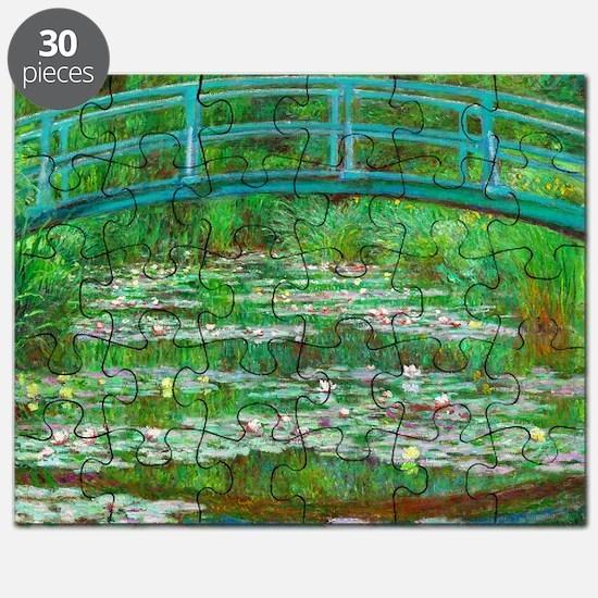 The Japanese Footbridge by Claude Monet Puzzle