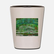 The Japanese Footbridge by Claude Monet Shot Glass