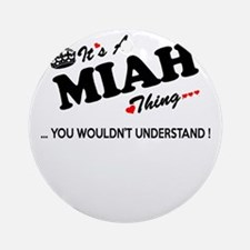 Cute Miah Round Ornament