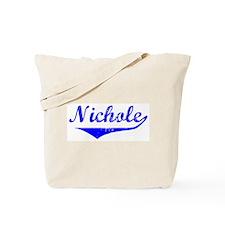 Nichole Vintage (Blue) Tote Bag
