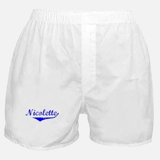 Nicolette Vintage (Blue) Boxer Shorts