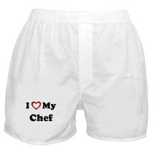 I Love My Chef Boxer Shorts