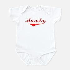 Micaela Vintage (Red) Infant Bodysuit