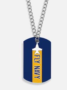 U.S. Navy: Fly Navy (F-18) Dog Tags