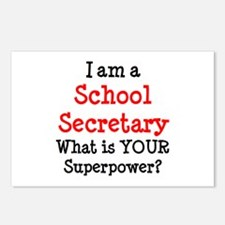 school secretary Postcards (Package of 8)