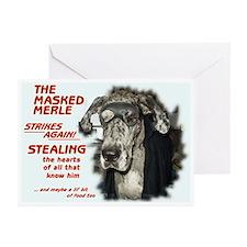 N Masked Merle Greeting Cards (Pk of 10)