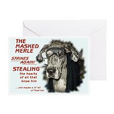 N Masked Merle Greeting Card