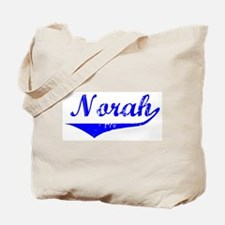 Norah Vintage (Blue) Tote Bag