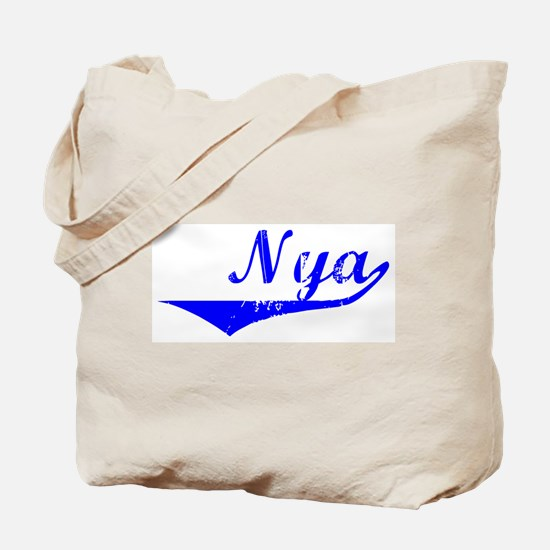 Nya Vintage (Blue) Tote Bag
