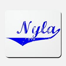 Nyla Vintage (Blue) Mousepad