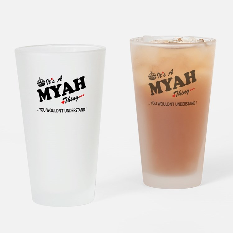Cute Myah Drinking Glass