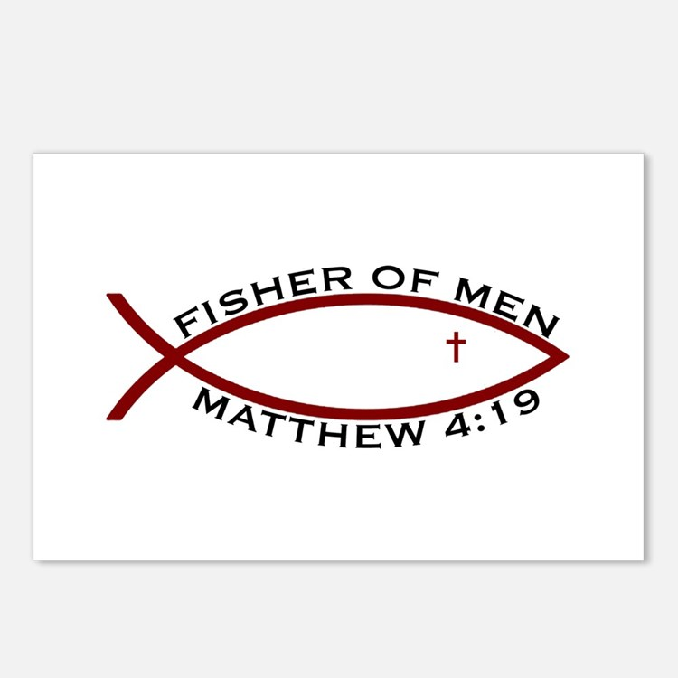 Fisher (RED) - Postcards (Package of 8)
