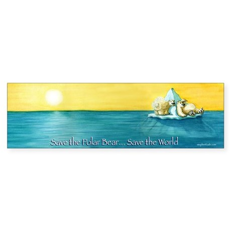 Save the Polar Bear Bumper Sticker