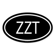 ZZT Oval Decal