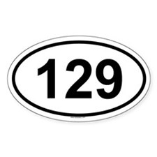 129 Oval Decal