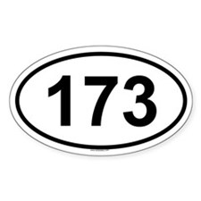 173 Oval Decal