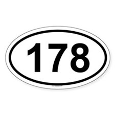 178 Oval Decal