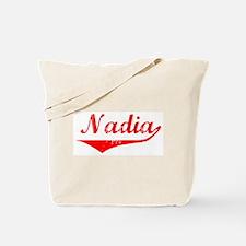 Nadia Vintage (Red) Tote Bag