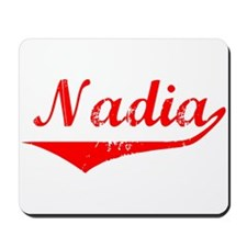 Nadia Vintage (Red) Mousepad