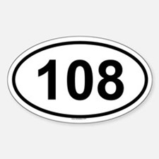 108 Oval Decal