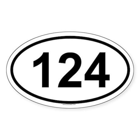124 Oval Sticker