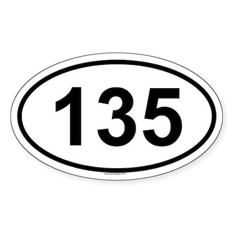 135 Oval Sticker