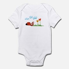 Friendly and cuddly zoco Ladybug Infant Creeper