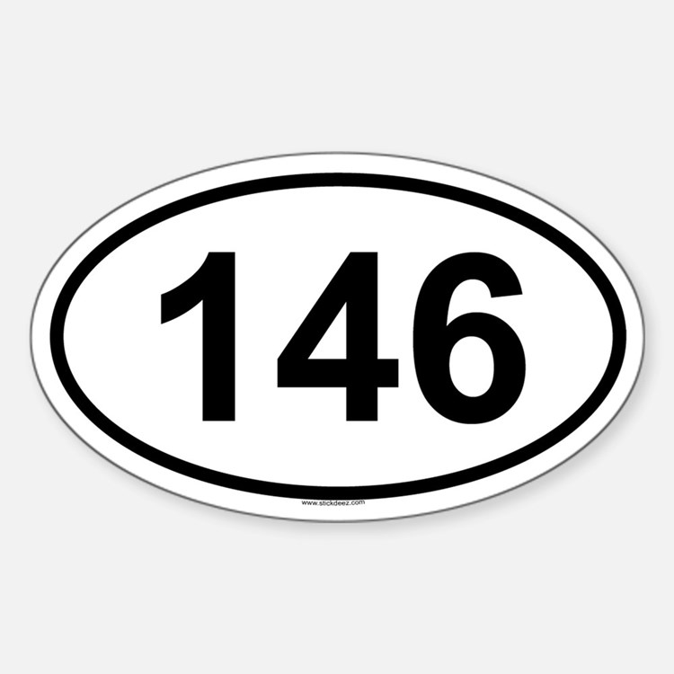 146 Oval Decal