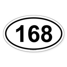 168 Oval Decal