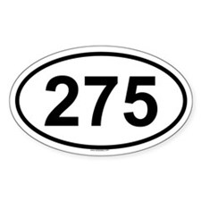 275 Oval Decal