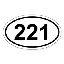 221 Oval Decal