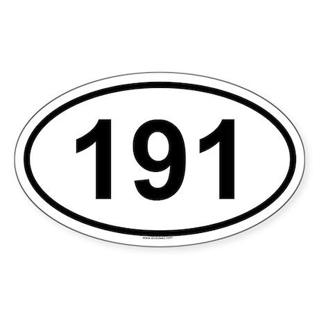 191 Oval Sticker