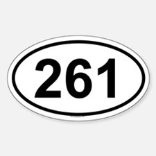 261 Oval Decal
