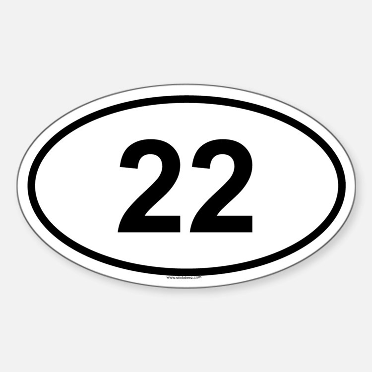22 Oval Decal