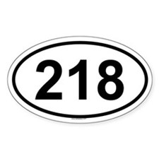 218 Oval Decal