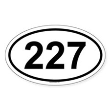227 Oval Decal