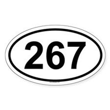 267 Oval Decal