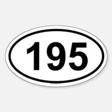 195 Oval Decal