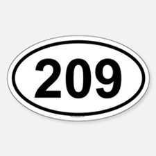 209 Oval Decal