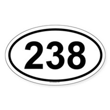 238 Oval Decal