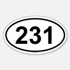 231 Oval Decal