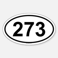 273 Oval Decal