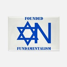 Founded On Fundamentalism Rectangle Magnet