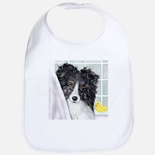 Bi Black Sheltie Bath Bib
