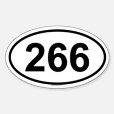 266 Oval Decal