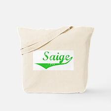 Saige Vintage (Green) Tote Bag