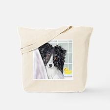 Bi Black Sheltie Bath Tote Bag