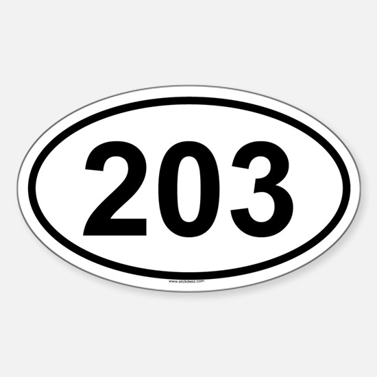 203 Oval Bumper Stickers